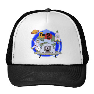 Outer Space 2nd Birthday T-shirts and Gifts Cap
