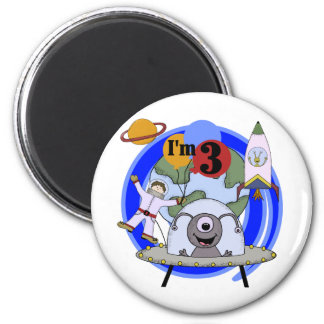 Outer Space 3rd Birthday Tshirts and Gifts Fridge Magnet
