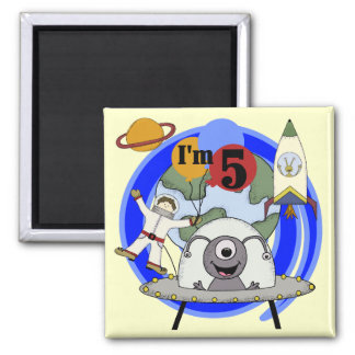 Outer Space 5th Birthday Tshirts and Gifts Fridge Magnet