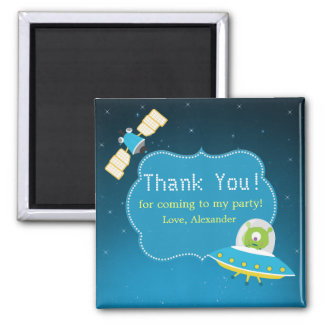 Outer Space Alien Boy Birthday Thank You Magnet