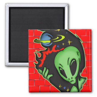 Outer Space Alien Fridge Magnets