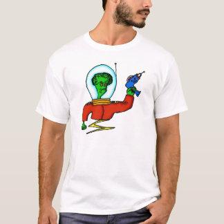 Outer Space Alien with Laser Gun T-Shirt