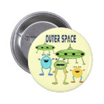 Outer Space Aliens 6 Cm Round Badge