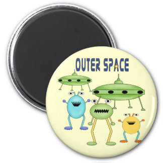 Outer Space Aliens 6 Cm Round Magnet