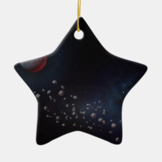 Outer Space Asteroids & Planets Ceramic Star Decoration