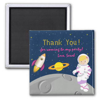 Outer Space Astronaut Birthday Thank You Magnet