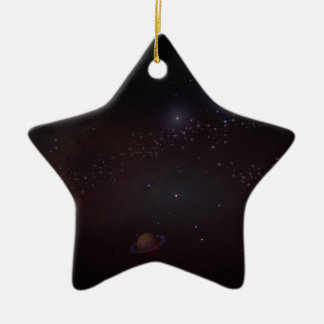 Outer Space Ceramic Star Decoration