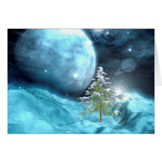 Outer Space Christmas Card