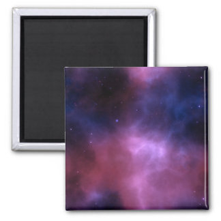 Outer Space Dark Star Nebula: Astronomy Purple Square Magnet