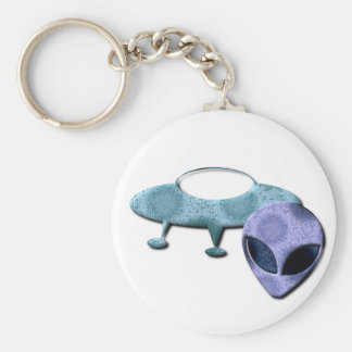 Outer Space Design Keychain