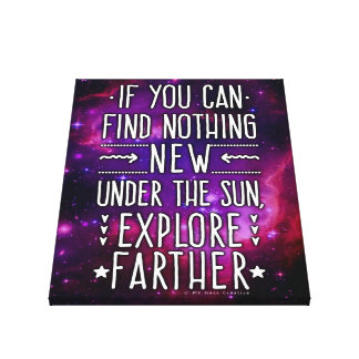 Outer Space Galaxy / Nebula Exploration Words 2 Stretched Canvas Print