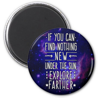 Outer Space Galaxy / Nebula with Exploration Words 6 Cm Round Magnet