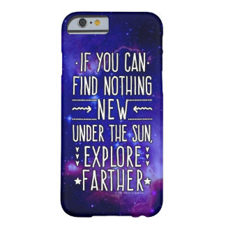 Outer Space Galaxy / Nebula with Exploration Words Barely There iPhone 6 Case