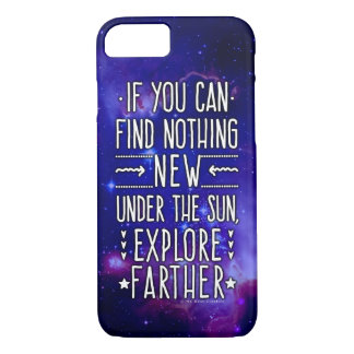 Outer Space Galaxy / Nebula with Exploration Words iPhone 7 Case