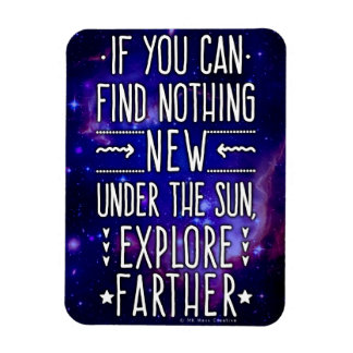 Outer Space Galaxy / Nebula with Exploration Words Rectangular Photo Magnet