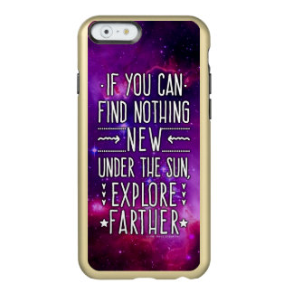 Outer Space Galaxy / Nebula with Exploration Words Incipio Feather® Shine iPhone 6 Case