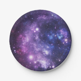 Outer Space Galaxy Paper Plate