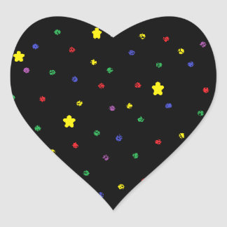 Outer Space Heart Heart Sticker
