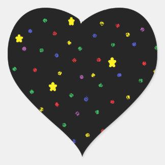 Outer Space Heart Heart Sticker