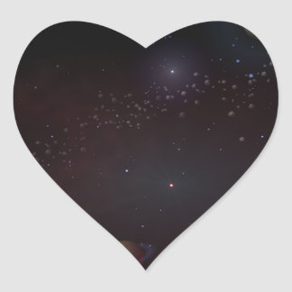 Outer Space Heart Sticker