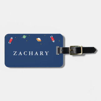 Outer Space Kids Luggage Tag