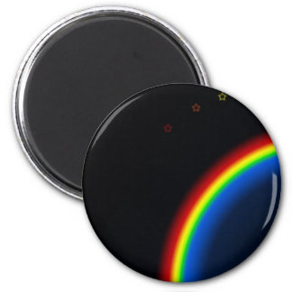 Outer space Rainbow 6 Cm Round Magnet