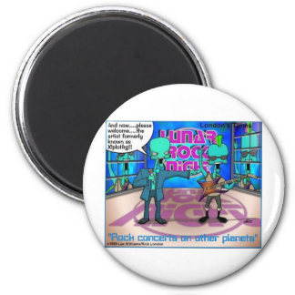Outer Space Rock Bands Funny Gifts & Tees 6 Cm Round Magnet