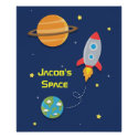 Outer Space, Rocket Ship, For Kids Room