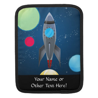 Outer Space Rocket Ship iPad Sleeve