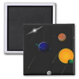 Outer Space Square Magnet
