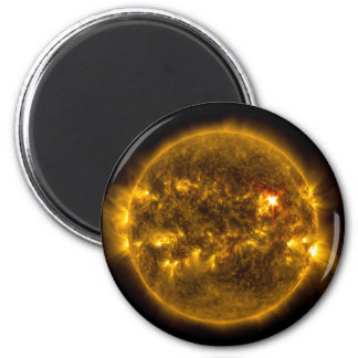 Outer Space Sun with Solar Flares Magnet