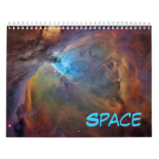 Outer Space Wall Calendar