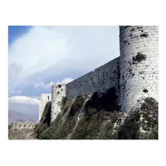 Outer wall, Krak des Chevaliers, Syria Postcard