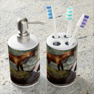 Outfoxed Bath Accessory Set