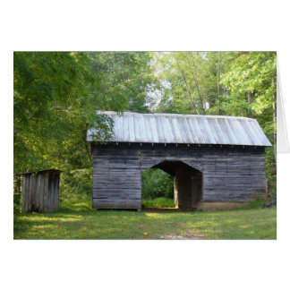 Outhouse and Barn Card
