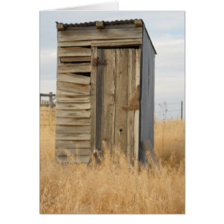 """""""Outhouse"""" Card"""