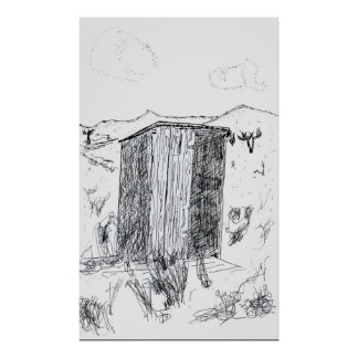 Outhouse, Gemfield, Nevada Poster