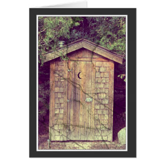 Outhouse Greeting Card - Note Card