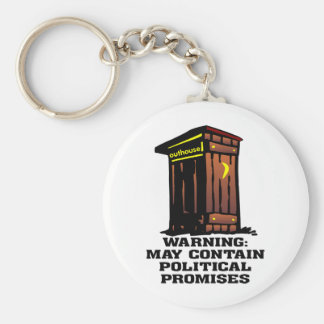 Outhouse May Contain Political Promises Key Chains