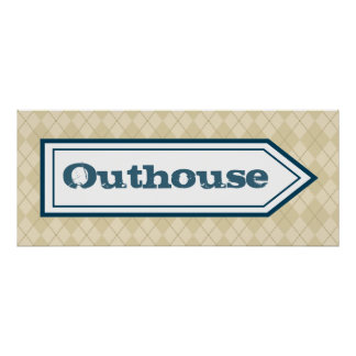 Outhouse Poster Posters