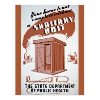 Outhouse WPA Poster Postcard