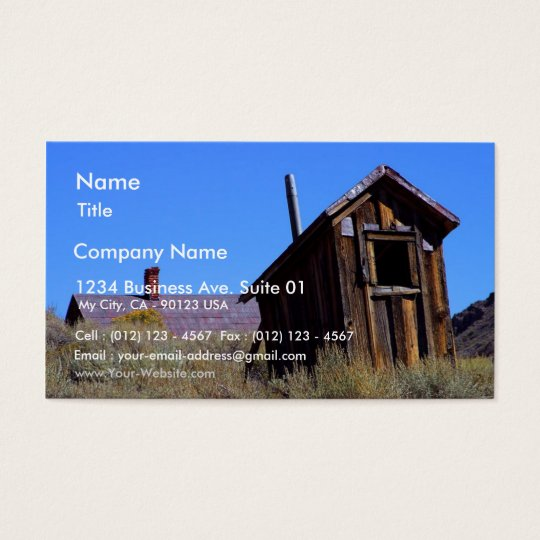Outhouses Bodie Business Card