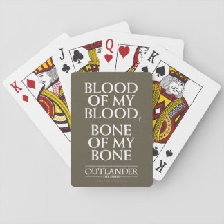 "Outlander | ""Blood of my blood, bone of my bone"" Playing Cards"