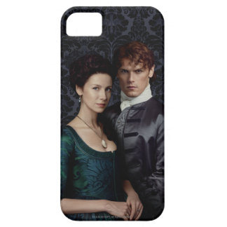 Outlander | Claire And Jamie Damask Portrait Barely There iPhone 5 Case