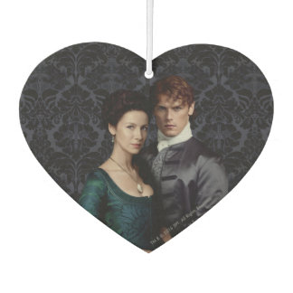 Outlander | Claire And Jamie Damask Portrait Car Air Freshener