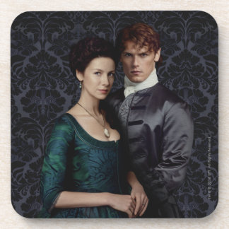 Outlander | Claire And Jamie Damask Portrait Coaster