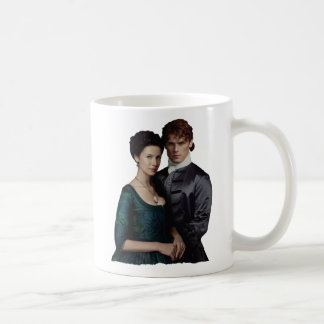 Outlander | Claire And Jamie Damask Portrait Coffee Mug