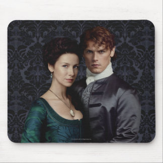 Outlander | Claire And Jamie Damask Portrait Mouse Mat