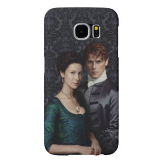 Outlander | Claire And Jamie Damask Portrait Samsung Galaxy S6 Cases