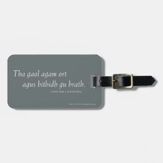Outlander | I love you. I always will. Luggage Tag